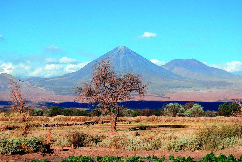 View of Licancabur volcano