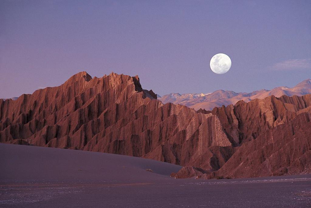 Full moon hike in the Atacama Desert Chile