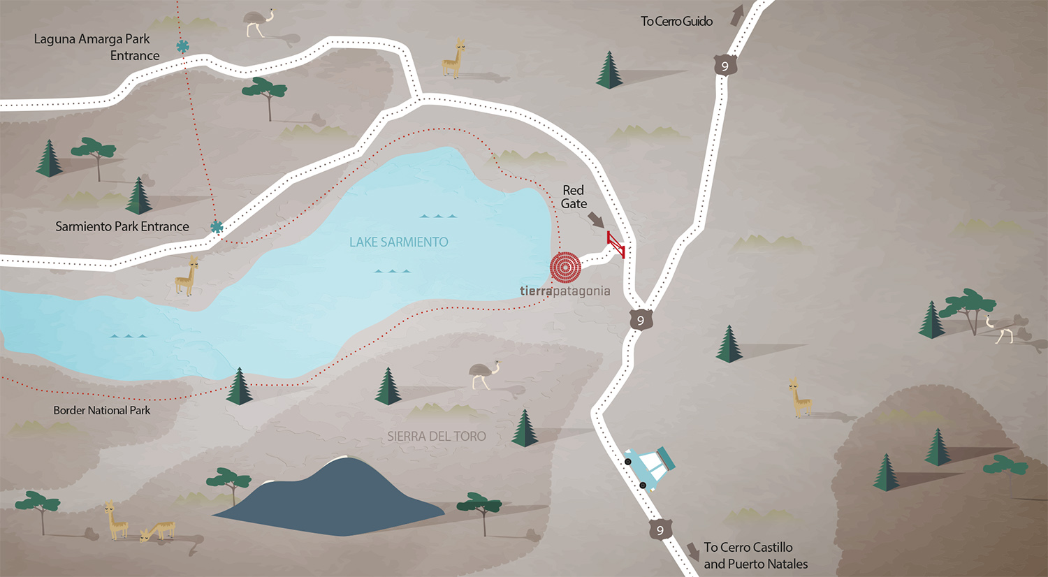 Our large Torres del Paine map is great for planning daily excursions